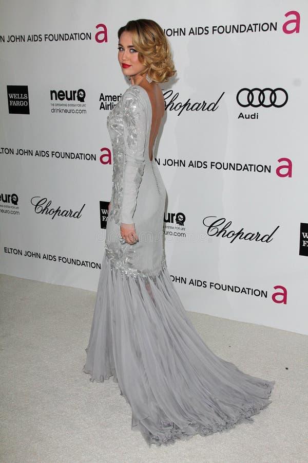 Miley Cyrus, Elton John fotografia de stock