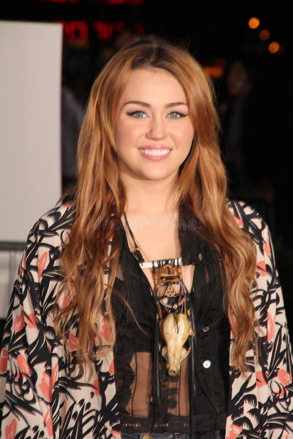 Miley Cyrus, Justin Bieber image libre de droits