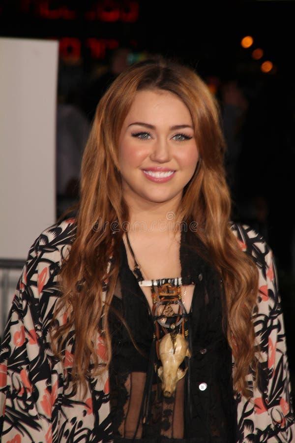 Miley Cyrus, Justin Bieber photos libres de droits