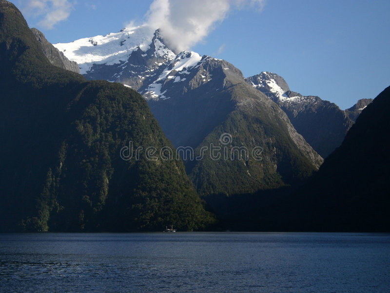 Milford Correct Nieuw Zeeland Stock Afbeeldingen