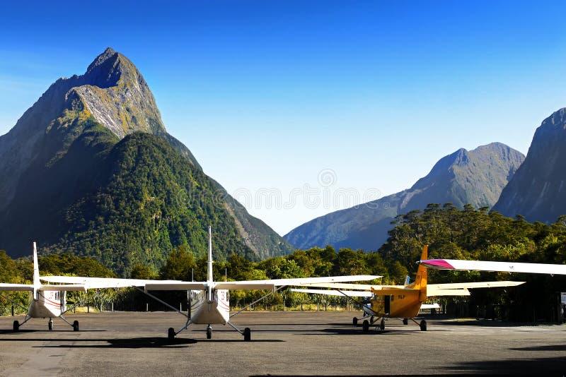 Milford Correcte Luchthaven, Nieuw Zeeland stock foto
