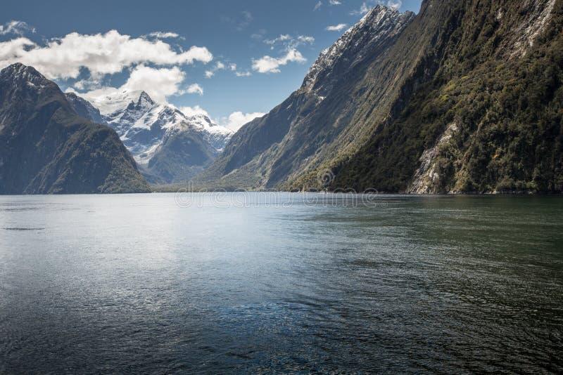 Milford dźwięk, Fiordland, Nowa Zelandia zdjęcia royalty free