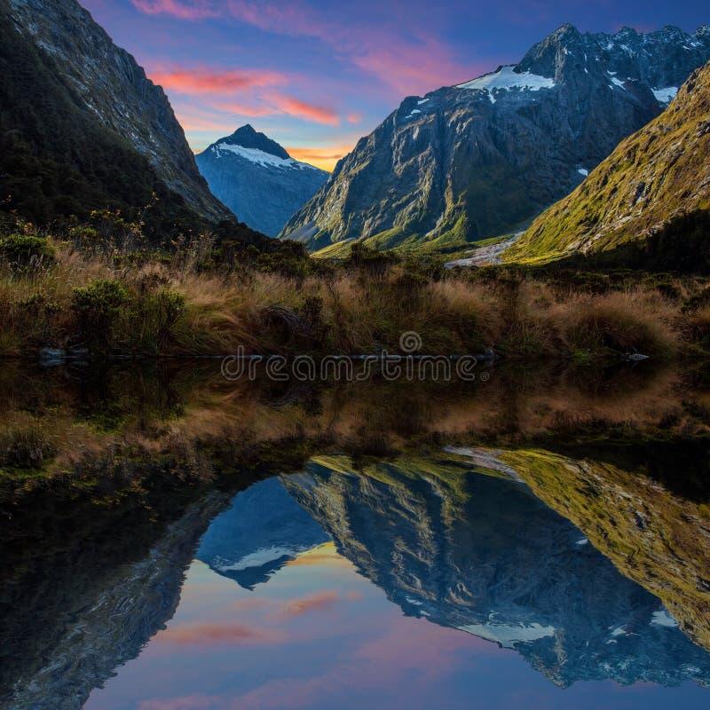 Milford dźwięk w Nowa Zelandia obraz royalty free