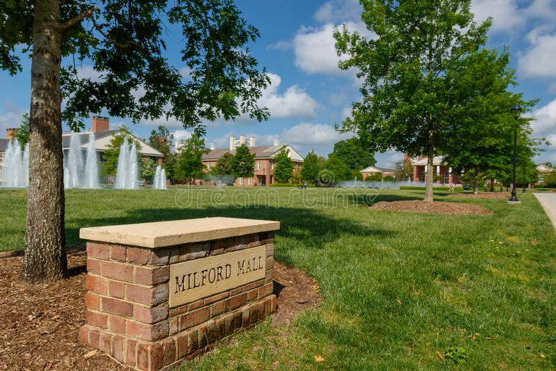 Milford-Mall an Furman-Universität stockfoto