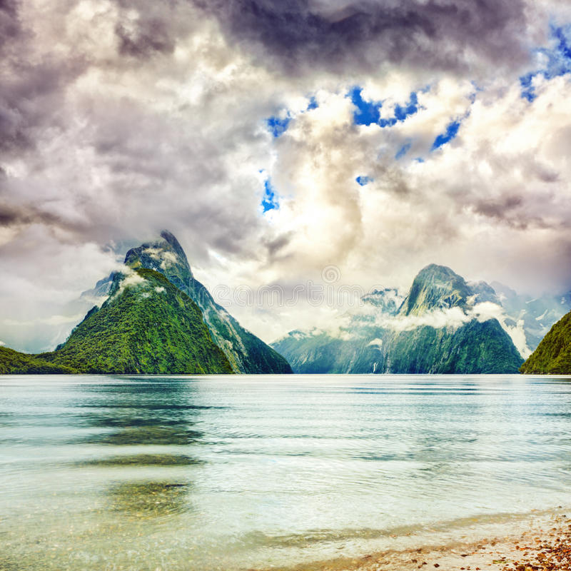 Download Milford sound stock image. Image of reflection, south - 23915431