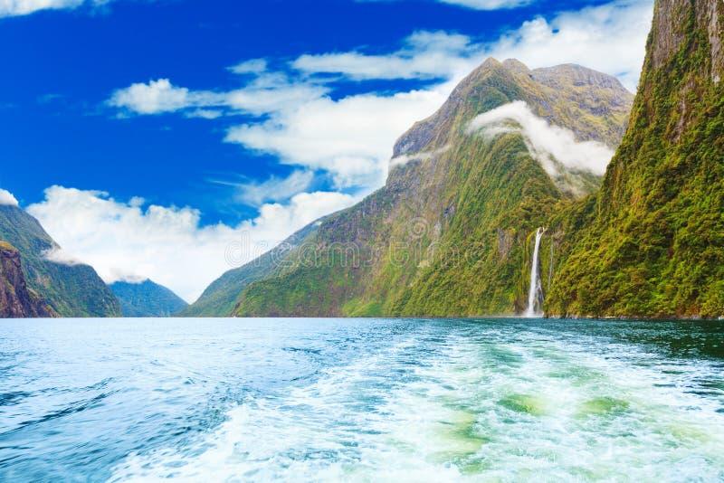 Milford sound. Fiordland. New Zealand stock photo