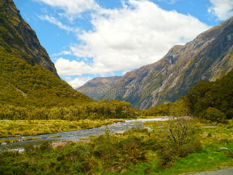 Milford Sound Highway stock photography