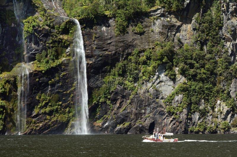 Milford Sound - la Nuova Zelanda fotografia stock