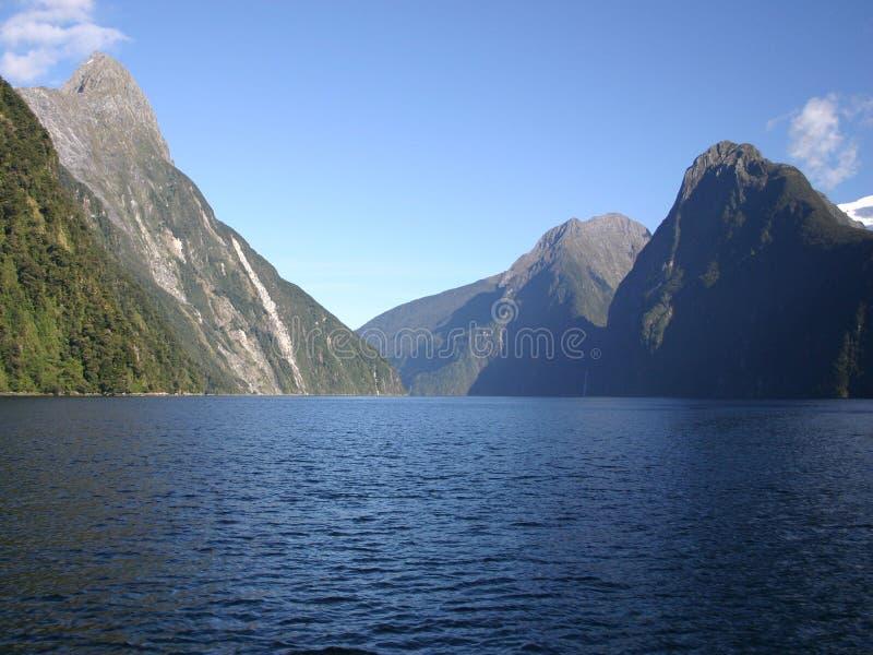 Milford Sound Neuseeland lizenzfreie stockbilder
