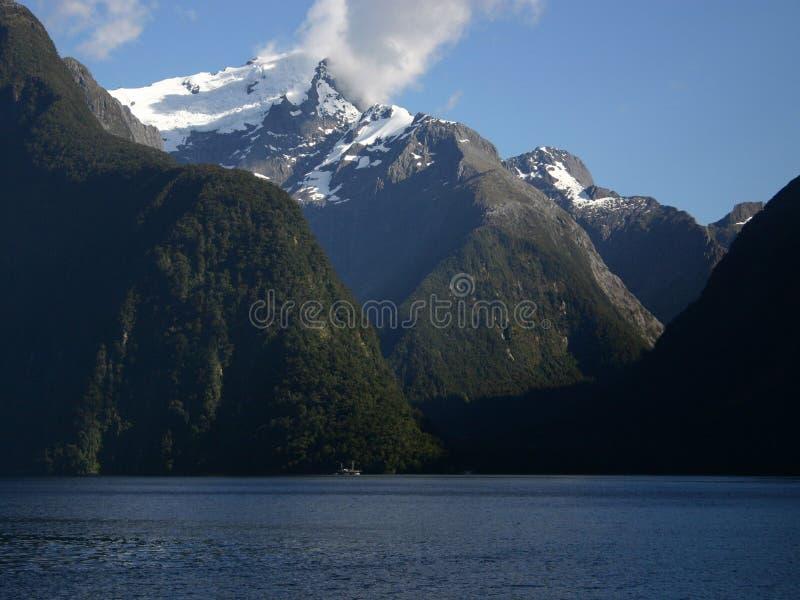 Milford Sound Neuseeland stockbilder