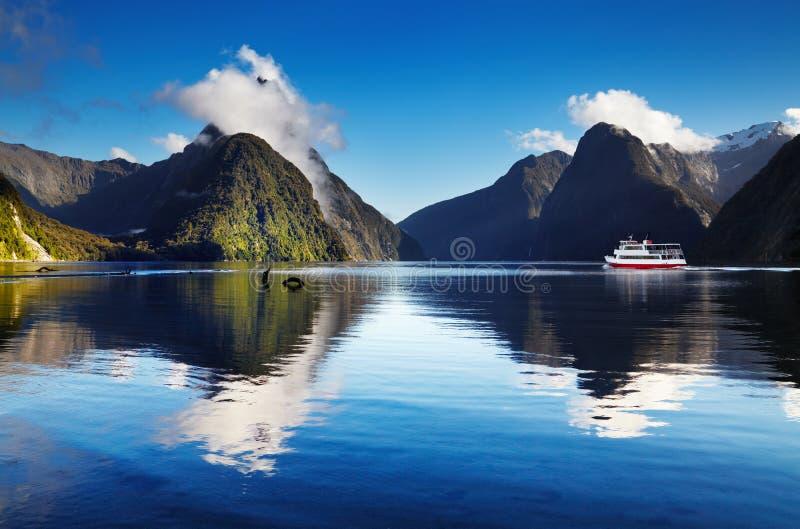 Milford Sound, Neuseeland stockfotos