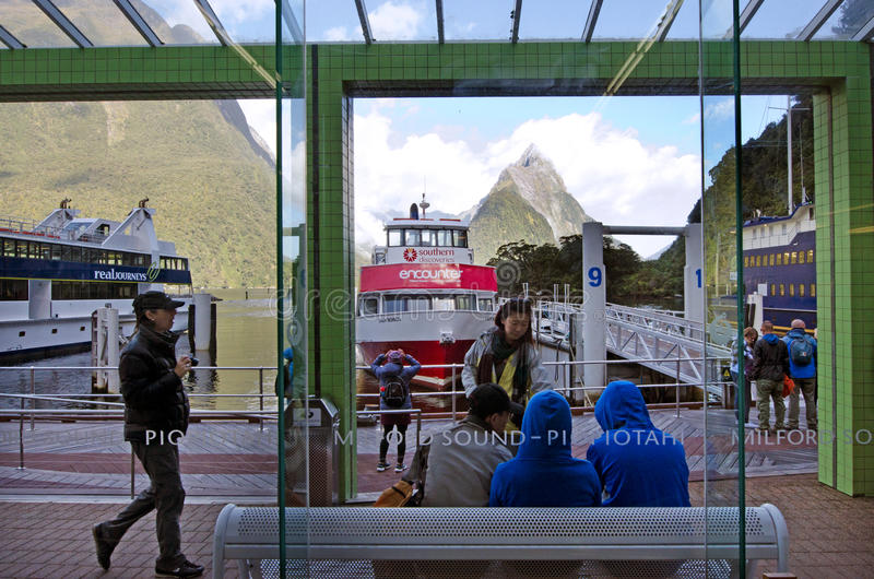 Milford Sound - New Zealand stock images