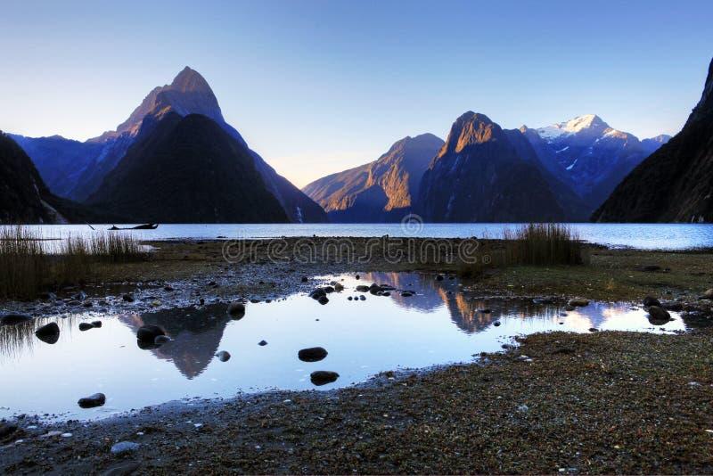 Milford Sound, New Zealand. South Island stock photo