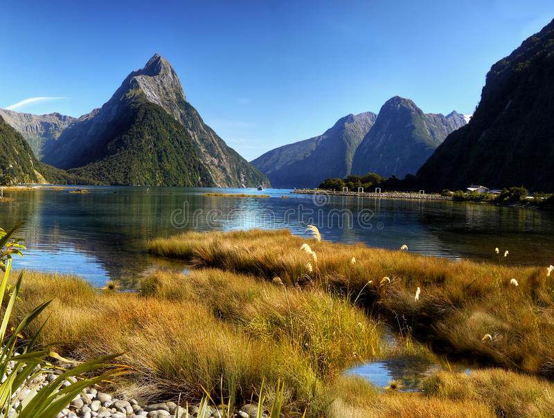 Milford Sound, New Zealand. Milford Sound, South Island, New Zealand royalty free stock image