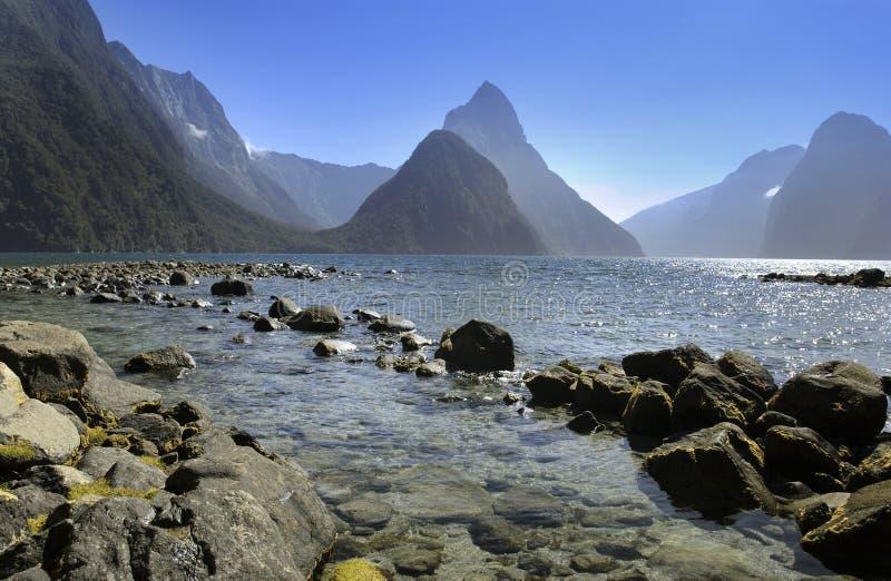 Milford Sound - Nova Zelândia fotografia de stock royalty free