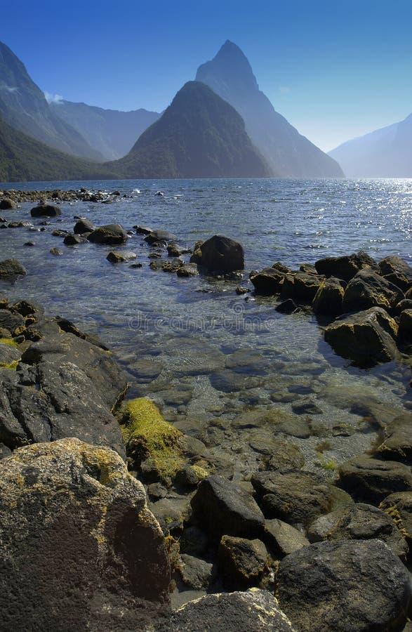 Milford Sound - Nova Zelândia imagens de stock royalty free