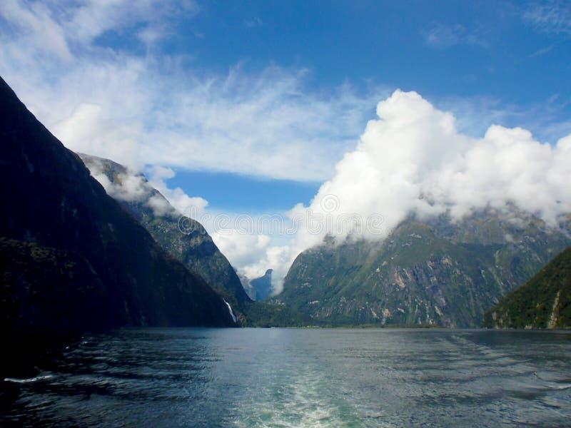 Milford Sound Nova Zelândia fotografia de stock