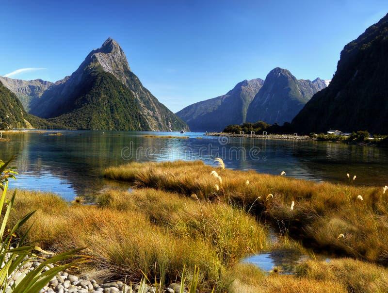 Milford Sound, Nueva Zelandia imagen de archivo libre de regalías
