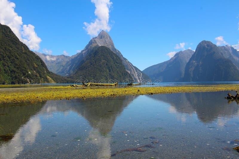 Milford Sound, parque nacional del fiordland, Nueva Zelanda fotos de archivo