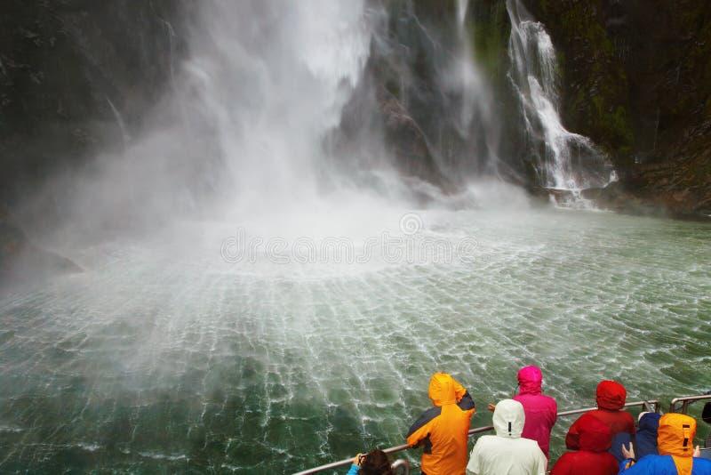 Milford- Soundfjord, Neuseeland stockbild