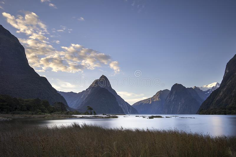 Milford Sounds - Fiordland National Park in south New Zealand stock images