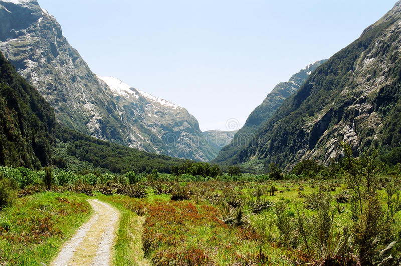 Milford track, New Zealand stock photography