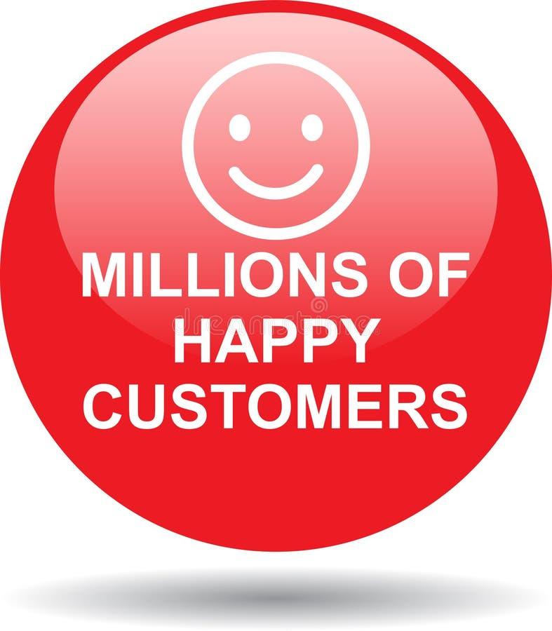 Milhões de clientes felizes ilustração royalty free