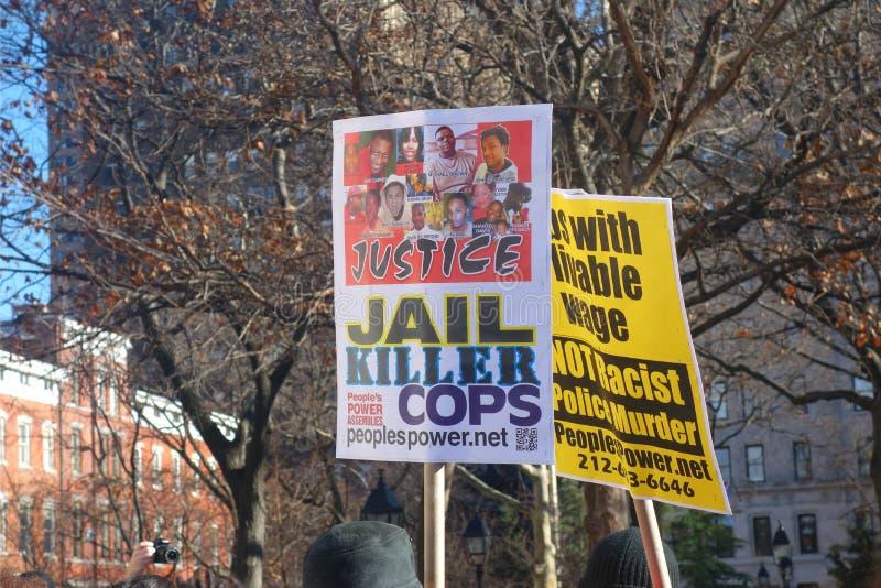 Milhões março NYC imagem de stock