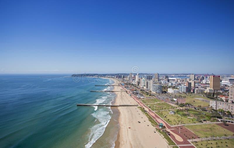 Milha dourada de Durban beira-mar fotos de stock royalty free