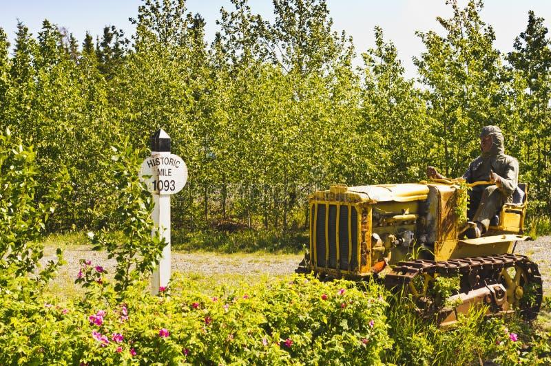 Milha histórica 1093 na estrada de Alaska fotos de stock royalty free