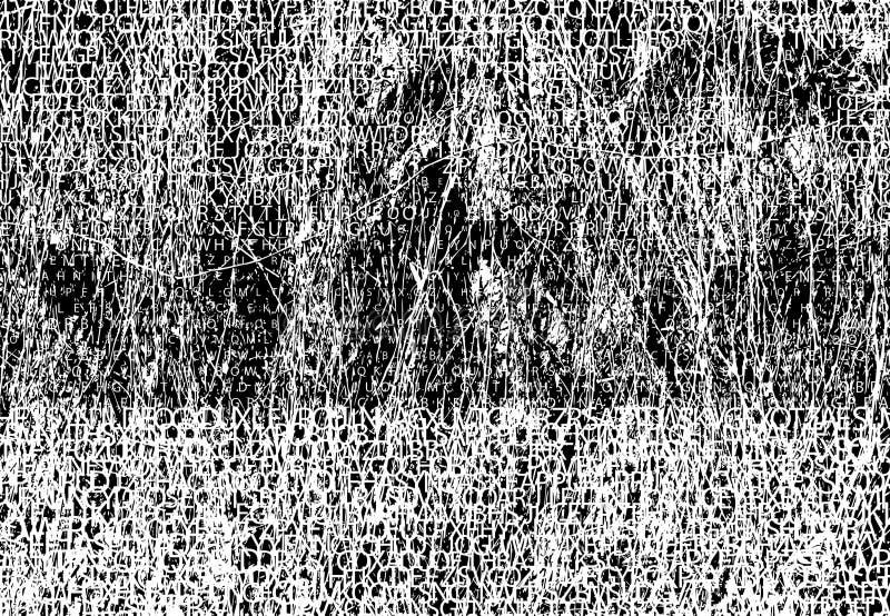 Milhares de pias batismais intercaladas com backgro do grunge ilustração do vetor