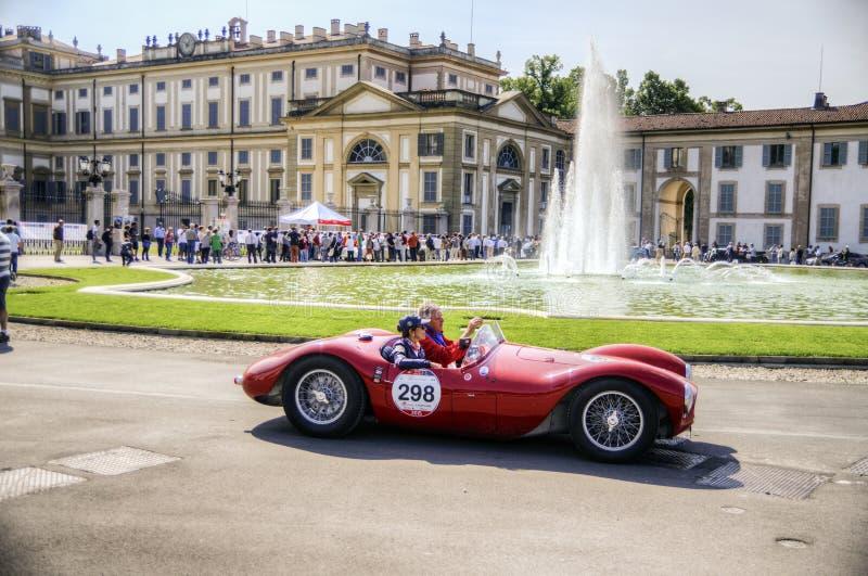 1000 milhas, Royal Palace, Monza, Itália imagens de stock royalty free