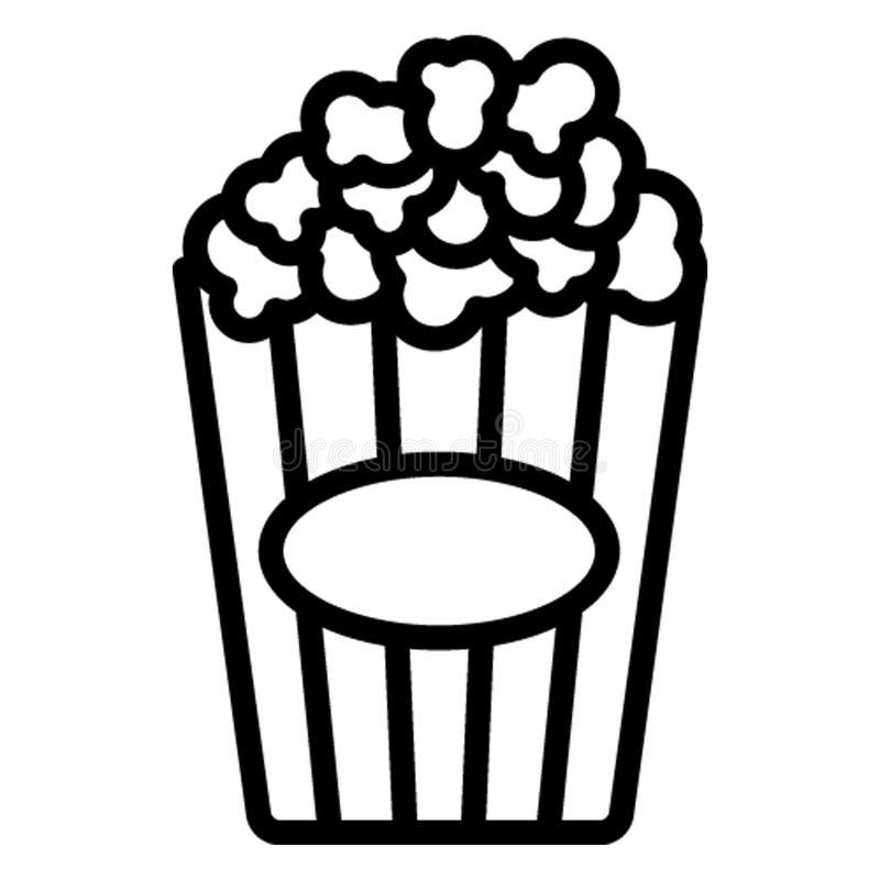Milho da chaleira, ícone do vetor da pipoca que pode facilmente editar ilustração stock