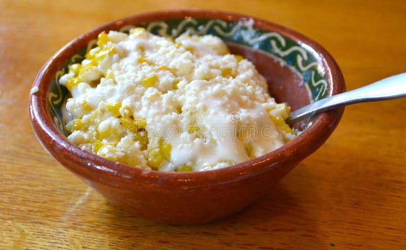 Milho de creme mexicano fotografia de stock