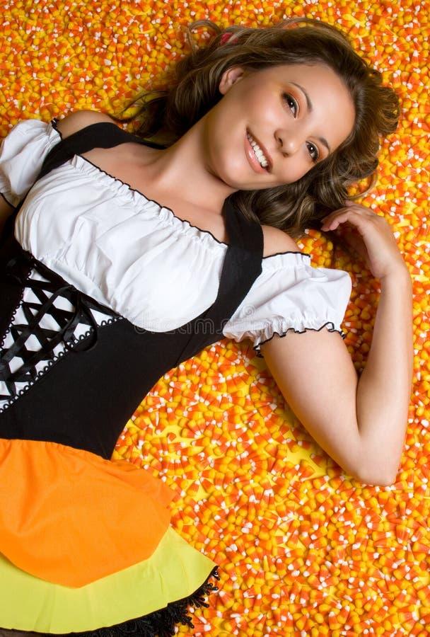 Milho de doces Halloween imagem de stock royalty free