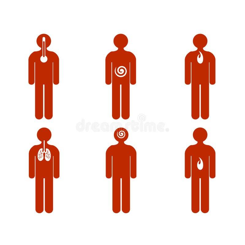 mili ludzie choroby różnorodnej royalty ilustracja