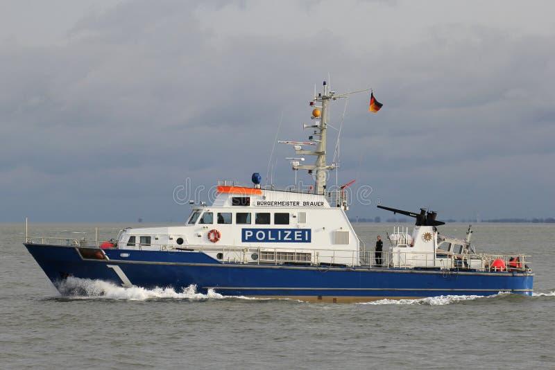 Milicyjna łódź patrolowa zdjęcia stock