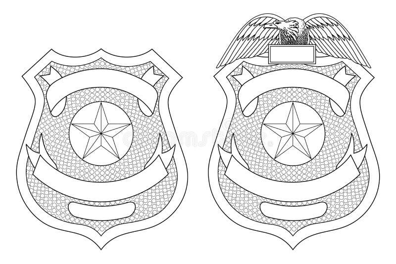 Milicyjna egzekwowanie prawa odznaka ilustracja wektor