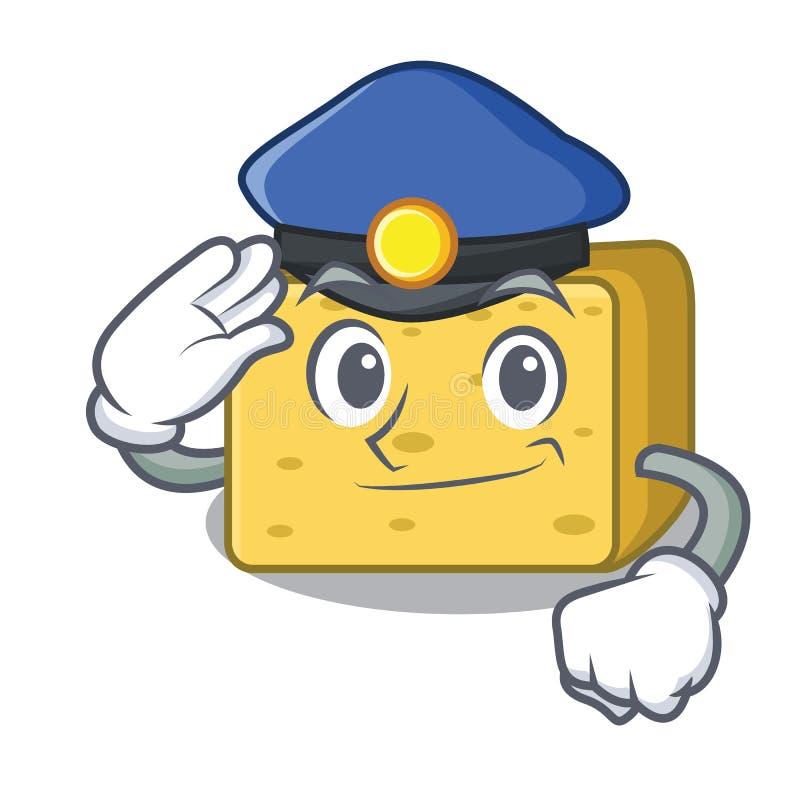 Milicyjna gouda sera charakteru kreskówka ilustracja wektor