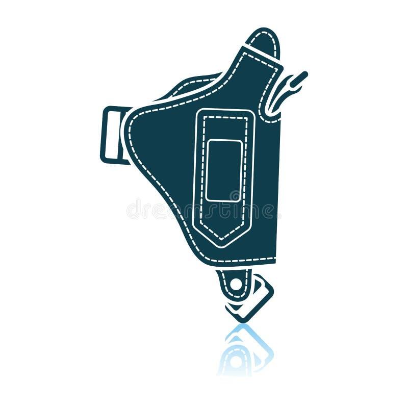 Milicyjna holster pistoletu ikona ilustracja wektor