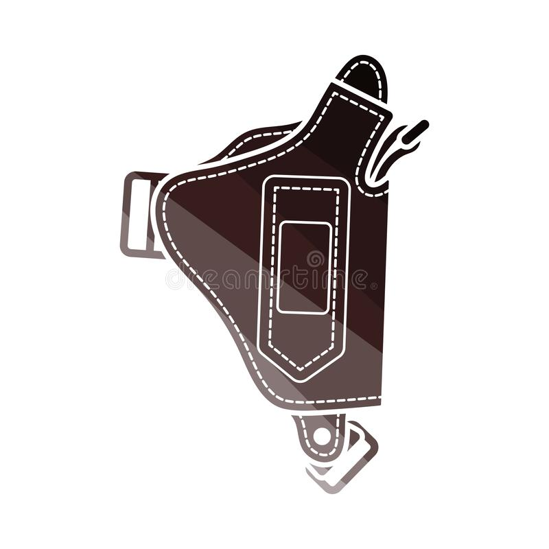 Milicyjna holster pistoletu ikona royalty ilustracja