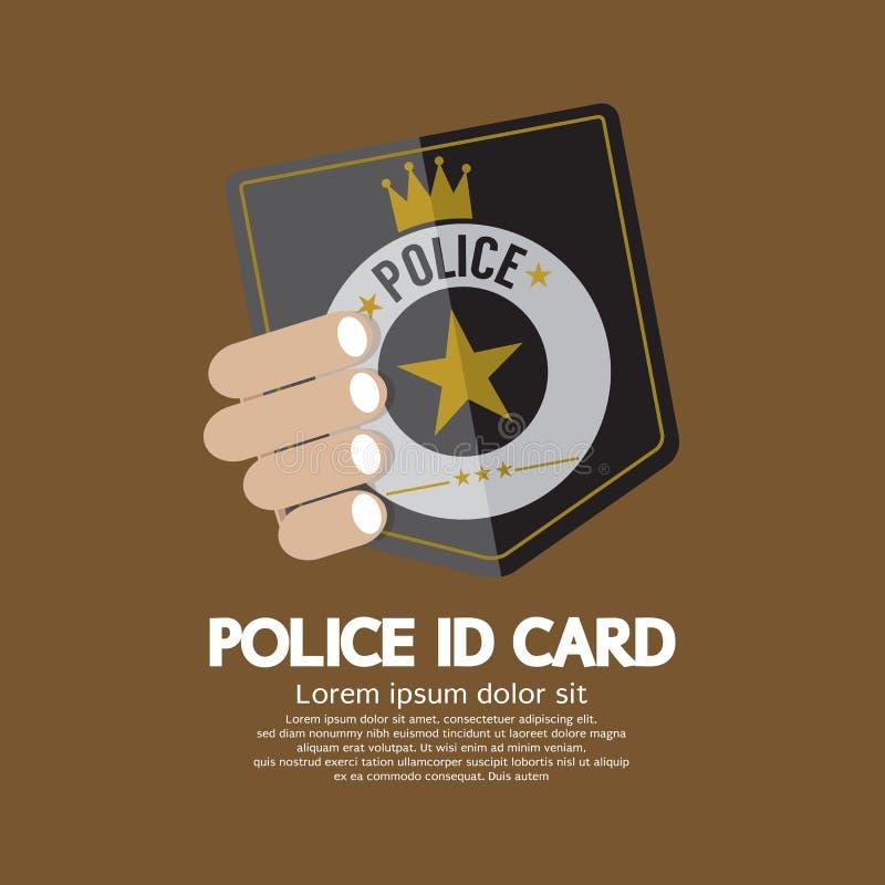Milicyjna ID karta ilustracja wektor