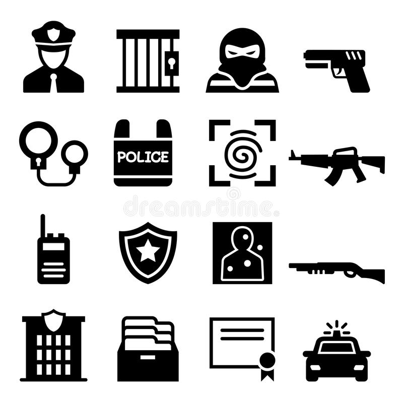 Milicyjna ikona ilustracji