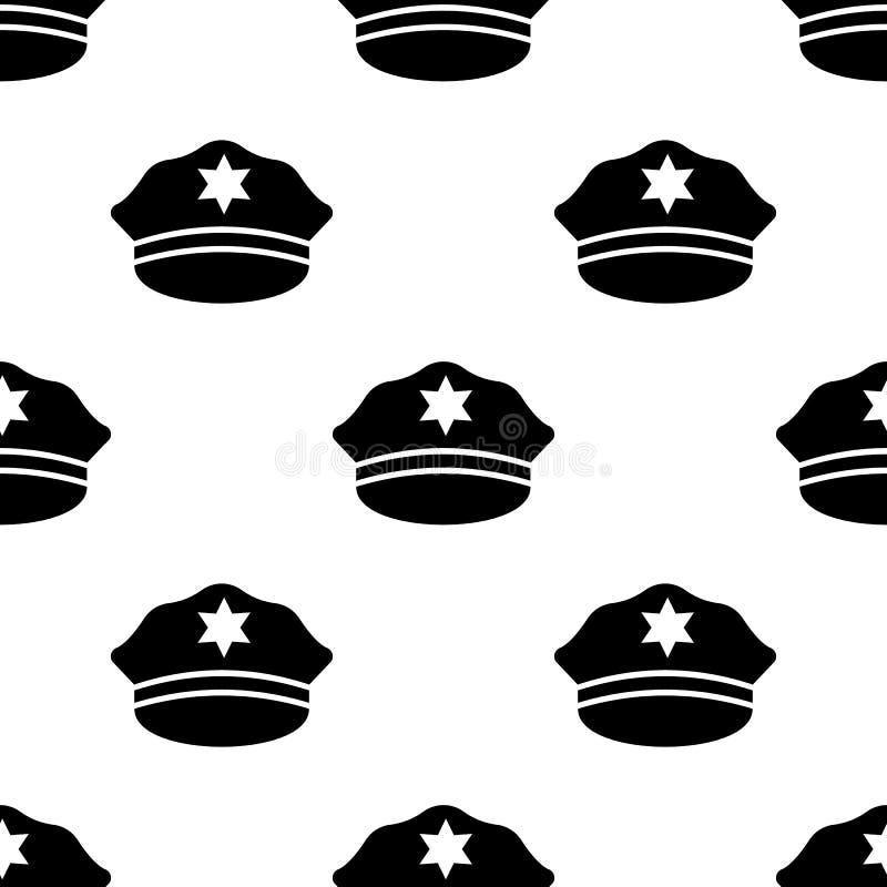 Milicyjna nakrętki ikona Element Nafciane ikony dla mobilnych pojęcia i sieci apps Deseniowa powtórki seamlesspolice nakrętki iko ilustracja wektor