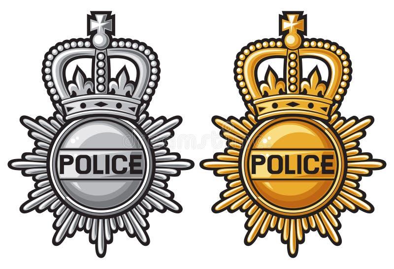 Milicyjna odznaka royalty ilustracja