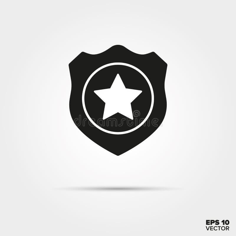 Milicyjna odznaka wektoru ikona ilustracji