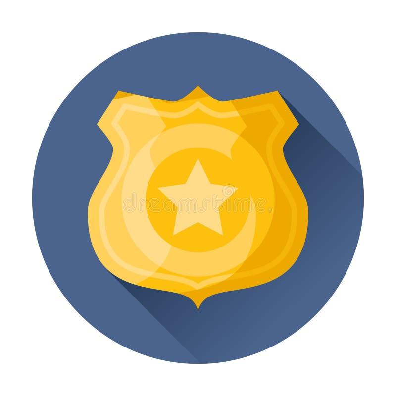 Milicyjna odznaki ikona ilustracja wektor