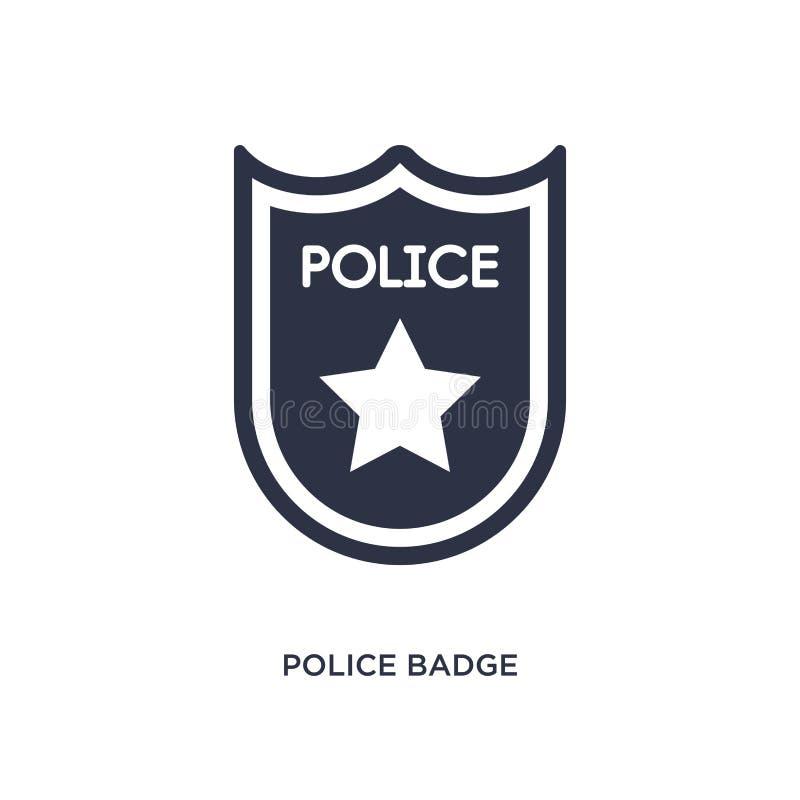 milicyjna odznaki ikona na białym tle Prosta element ilustracja od prawa i sprawiedliwości pojęcia royalty ilustracja