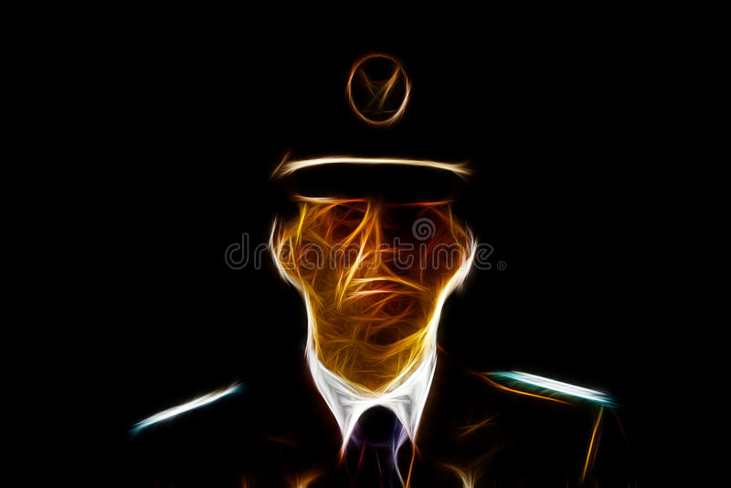 Milicyjna Oficjalna ilustracja ilustracja wektor