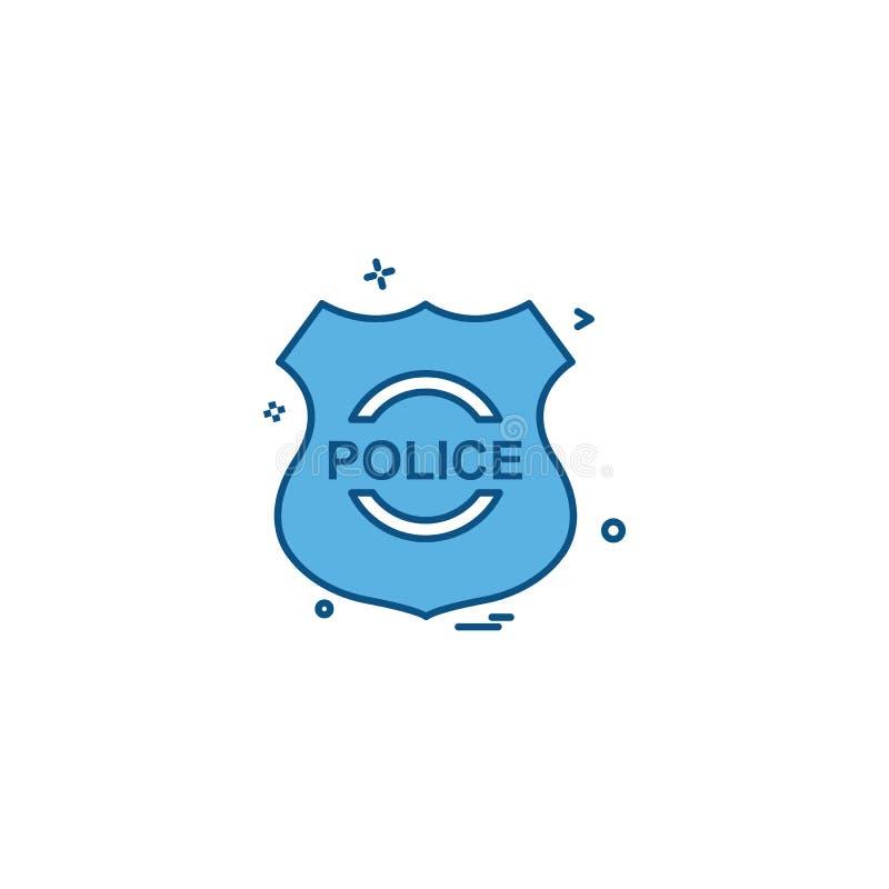 milicyjnej osłona emblemata siły ikony wektorowy projekt ilustracja wektor